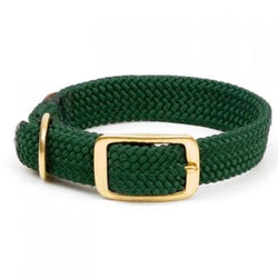 Large Double Braided Dog Collar - Green