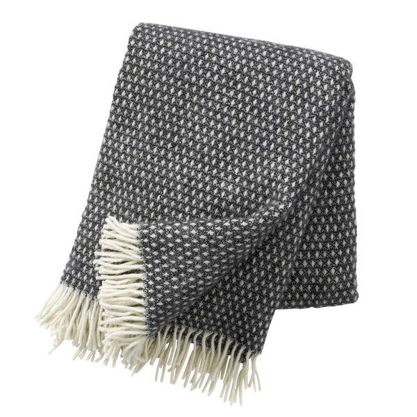 Knut Lambswool Throw - Dark Grey