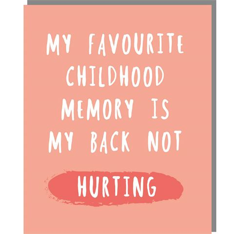 Childhood Memory - Mini Card