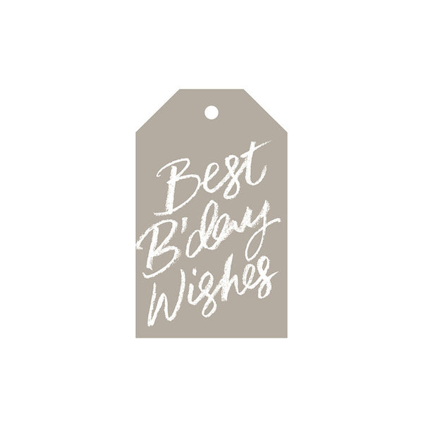Best B'day Wishes - Gift Tag