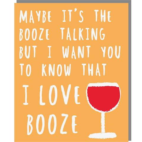 Booze Talking - Mini Card