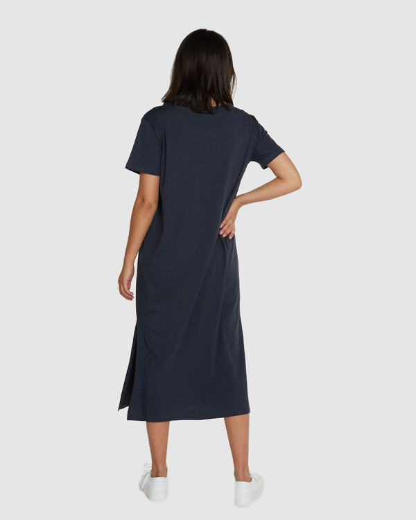 Boxy Tee Dress - Graphite
