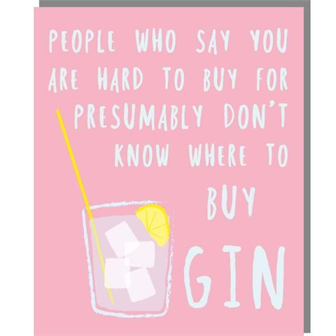 Buy Gin - Mini Card