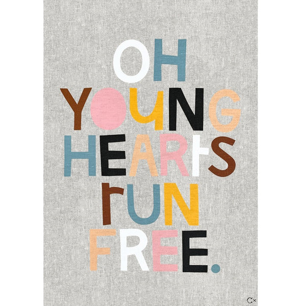 Art Teatowel - Young Hearts