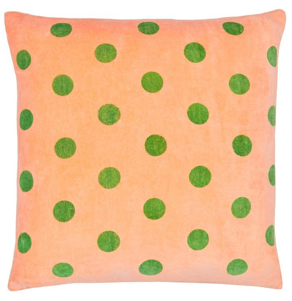 Green Spot Velvet Cushion Cover