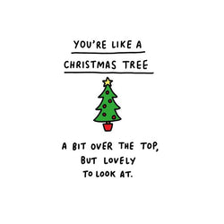 Christmas tree - Christmas card