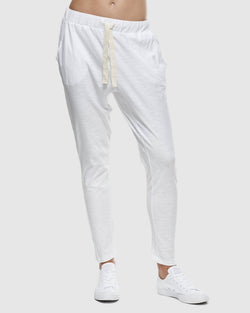 Slub Lounge Pant - White