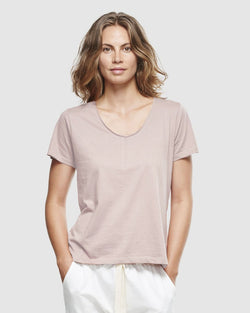 Classic V Neck Tee - Dusty Rose