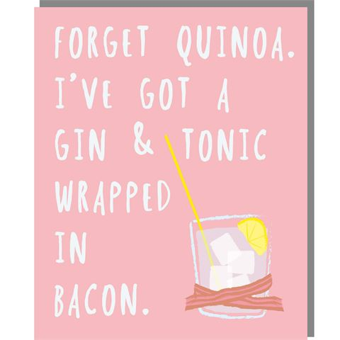 Gin & Bacon - Mini Card