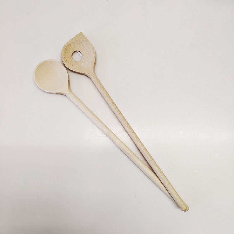 Beech Pointed spoon with hole