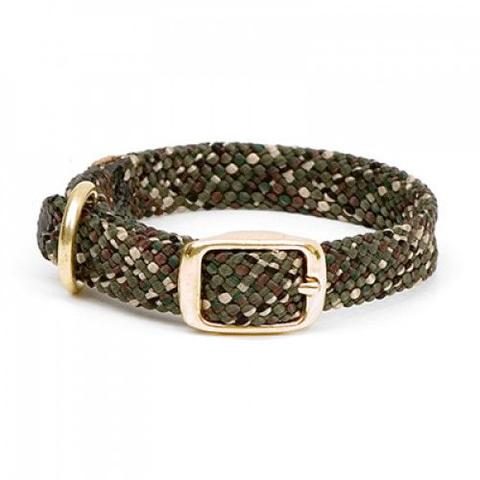 Small Double Braided Dog Collar - Camo