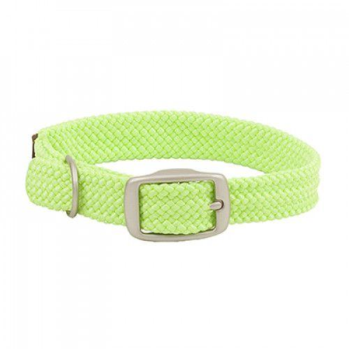 Small Double Braided Dog Collar - Lime