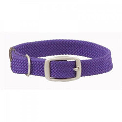 Small Double Braided Dog Collar - Purple