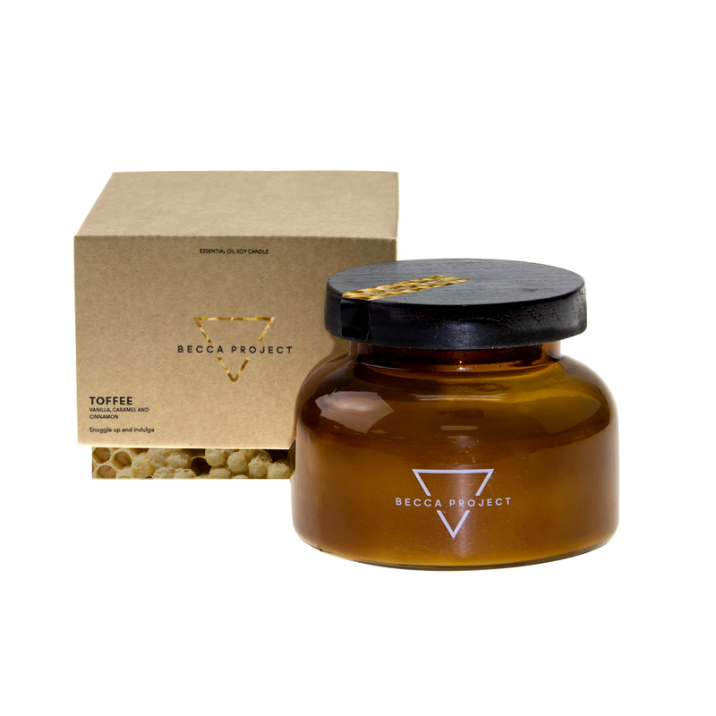 Toffee Essential Oil Candle - Large