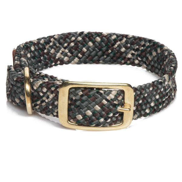 Large Double Braided Dog Collar - Camo