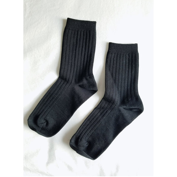 Her Socks - Solid True Black