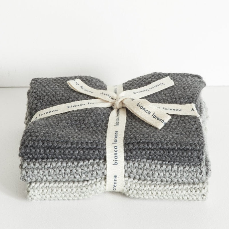 Lavette Grey Washcloths - set of 3