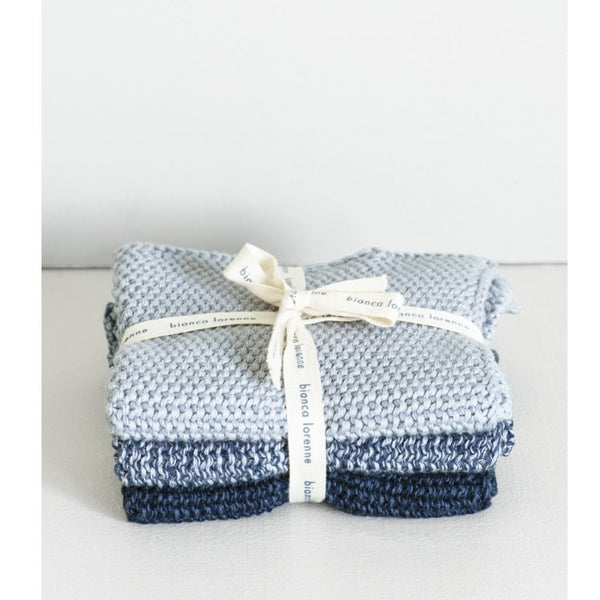 Lavette indigo Washcloths - set of 3