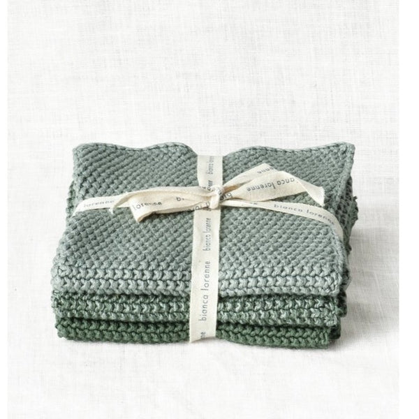 Lavette Sage Washcloths - set of 3