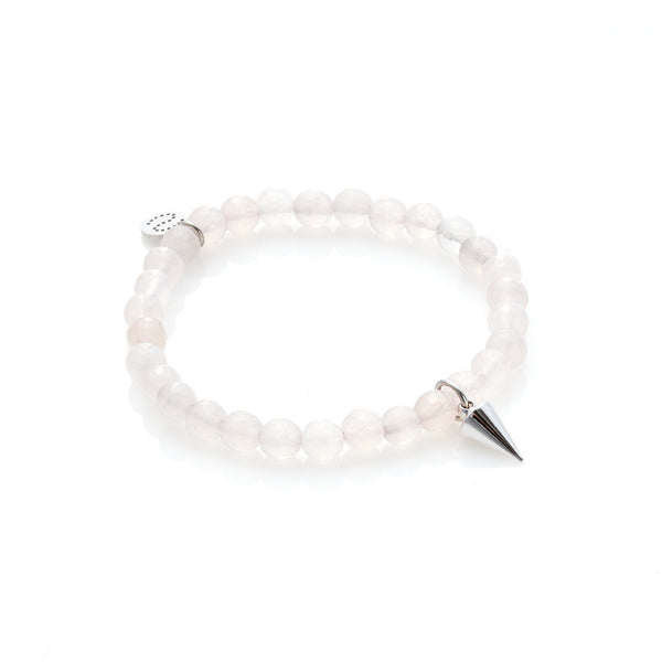 Love Hate Bracelet - Rose Quartz