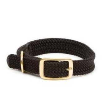 Small Double Braided Dog Collar - Black
