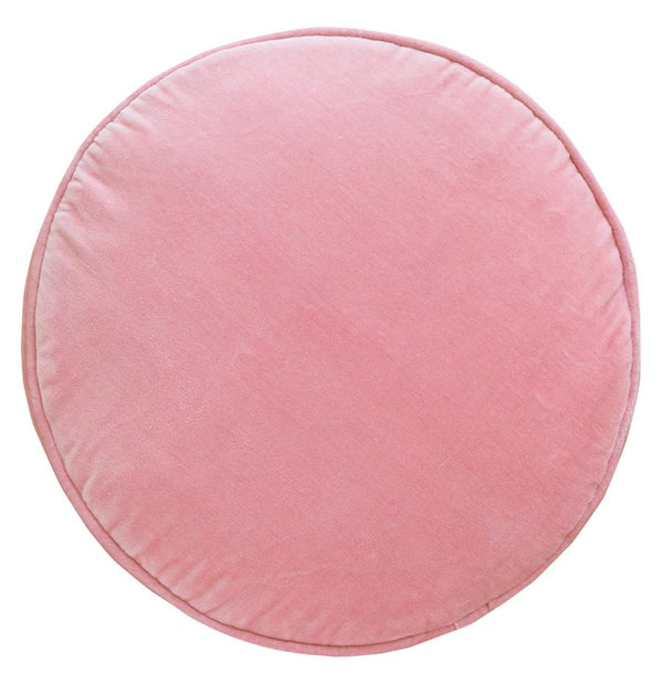 Velvet Penny Round Cover - Baby Pink