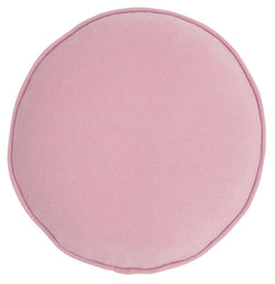 Cotton Knit Penny Round Cover - Pink