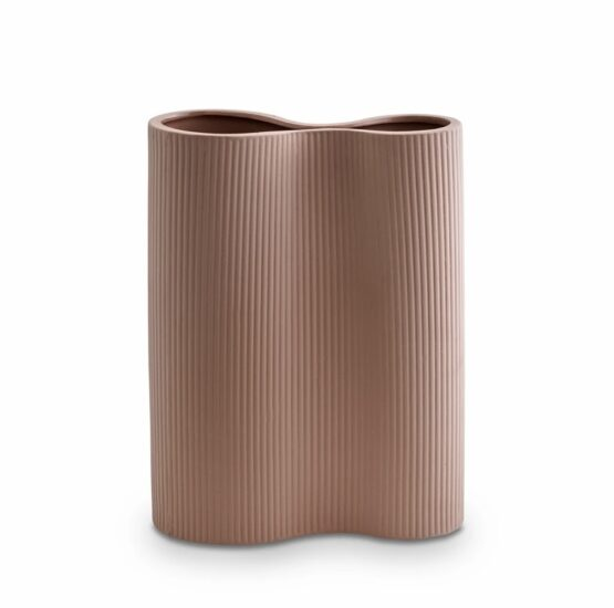 Ribbed Infinity Vase - Medium