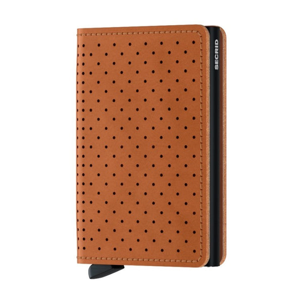 Slimwallet - Cognac Perforated
