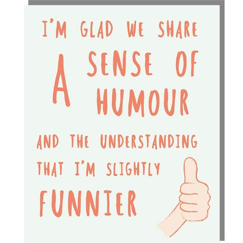 Sense of Humour - Mini Card