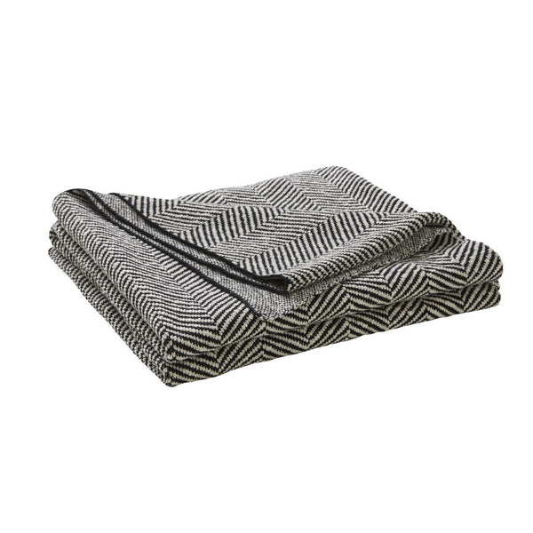 Solano Cotton Throw - Onyx