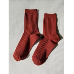 Her Socks Solid - Terracota