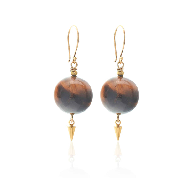 Savage Earrings - Tigers Eye