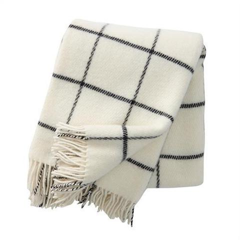 Vinga Island White Wool Throw