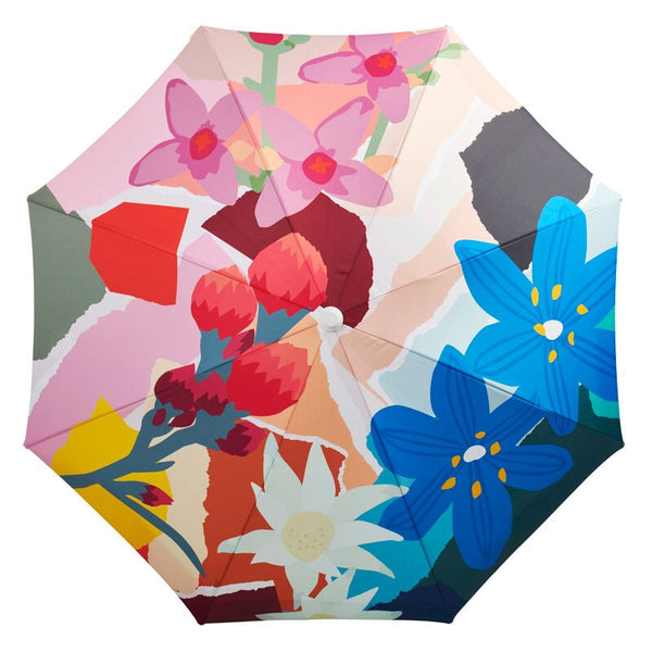 Beach Umbrella - Wildflowers