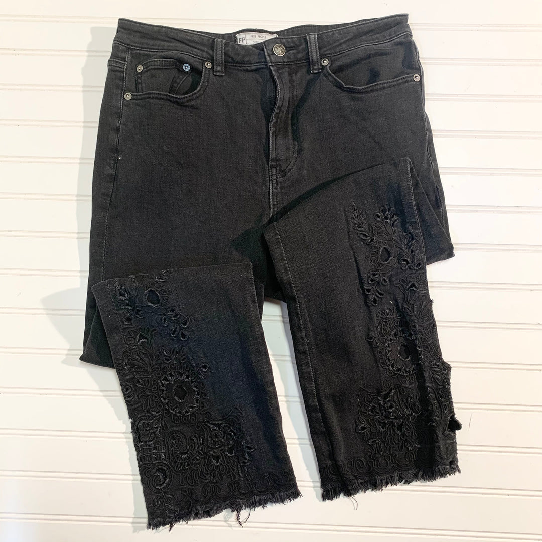 Primary Photo - BRAND: FREE PEOPLE <BR>STYLE: JEANS <BR>COLOR: BLACK DENIM <BR>SIZE: 8 <BR>OTHER INFO: WAIST 30 <BR>SKU: 239-23911-71576