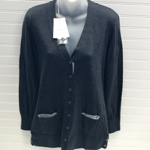 Primary Photo - BRAND:  COTTON BY AUTUMN CASHMERE STYLE: SWEATER CARDIGAN HEAVYWEIGHTCOLOR: GREY SIZE: M OTHER INFO: AUTUMN CASHMERE - NEW! 95% COTTON, 5% LYRCA SKU: 239-23911-72772