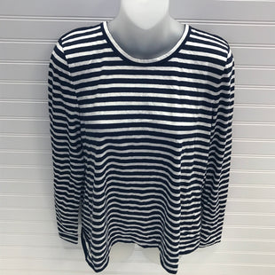 Primary Photo - BRAND: J CREW STYLE: TOP LONG SLEEVE COLOR: BLUE WHITE SIZE: M SKU: 239-23911-73572