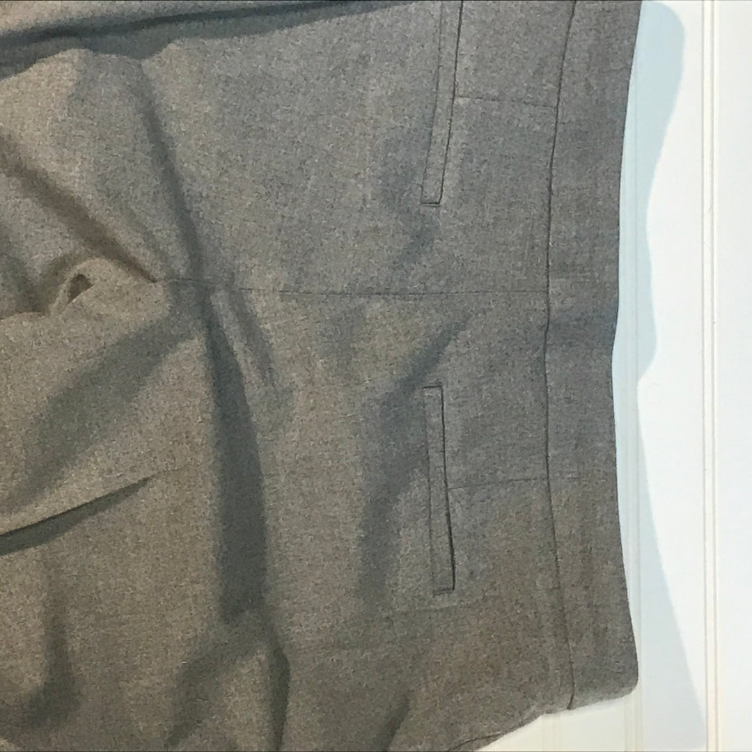 Photo #1 - BRAND: BANANA REPUBLIC <BR>STYLE: PANTS <BR>COLOR: GREY <BR>SIZE: 8 <BR>SKU: 239-23918-36306<BR>CROPPED, RUFFLED HEM