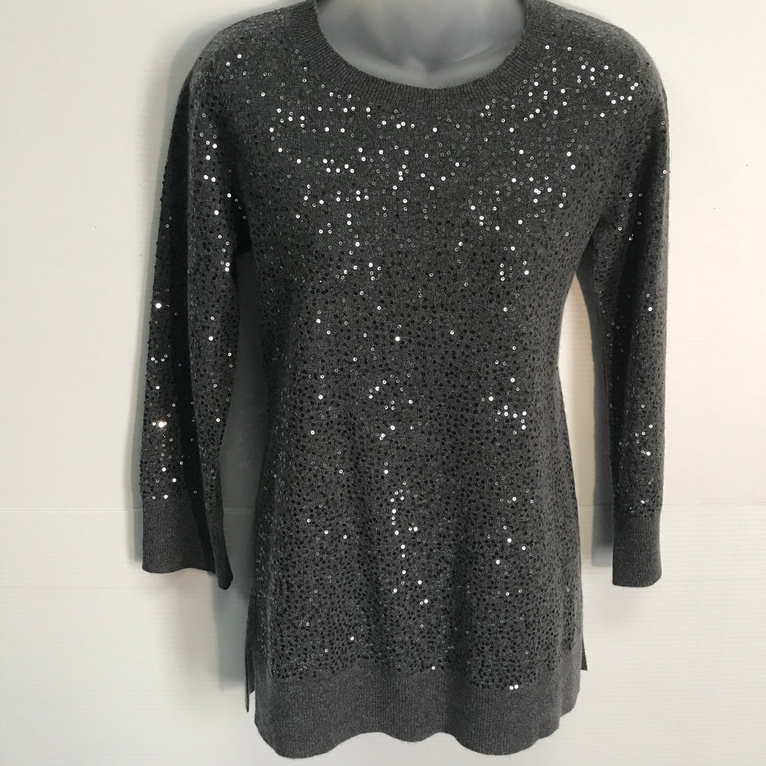 Primary Photo - BRAND: NEIMAN MARCUS<BR>STYLE: SWEATER CASHMERE<BR>COLOR: SEQUIN GREY<BR>SIZE: S<BR>SKU: 239-23918-31916