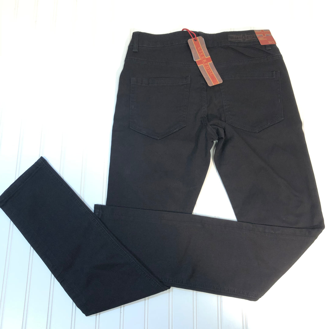 Photo #1 - BRAND: LIVERPOOL <BR>STYLE: PANTS <BR>COLOR: BLACK <BR>SIZE: 2 <BR>OTHER INFO: SIZE 26 NEW! <BR>SKU: 239-23911-67568