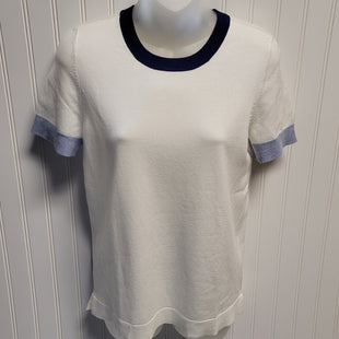 Primary Photo - BRAND: 525 AMERICA STYLE: SWEATER LIGHTWEIGHT COLOR: WHITE BLUE SIZE: S OTHER INFO: NEW! SKU: 239-23918-38103