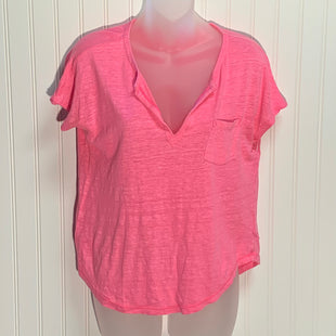 Primary Photo - BRAND: LILLY PULITZER STYLE: TOP SHORT SLEEVE COLOR: PINK SIZE: S OTHER INFO: 100% LINEN SKU: 239-23911-72576