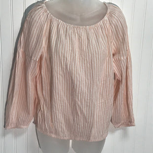 Primary Photo - BRAND: GAP STYLE: TOP LONG SLEEVE COLOR: PINK SIZE: XSOTHER INFO: PINK WHTE STRIPED SKU: 239-23918-36265