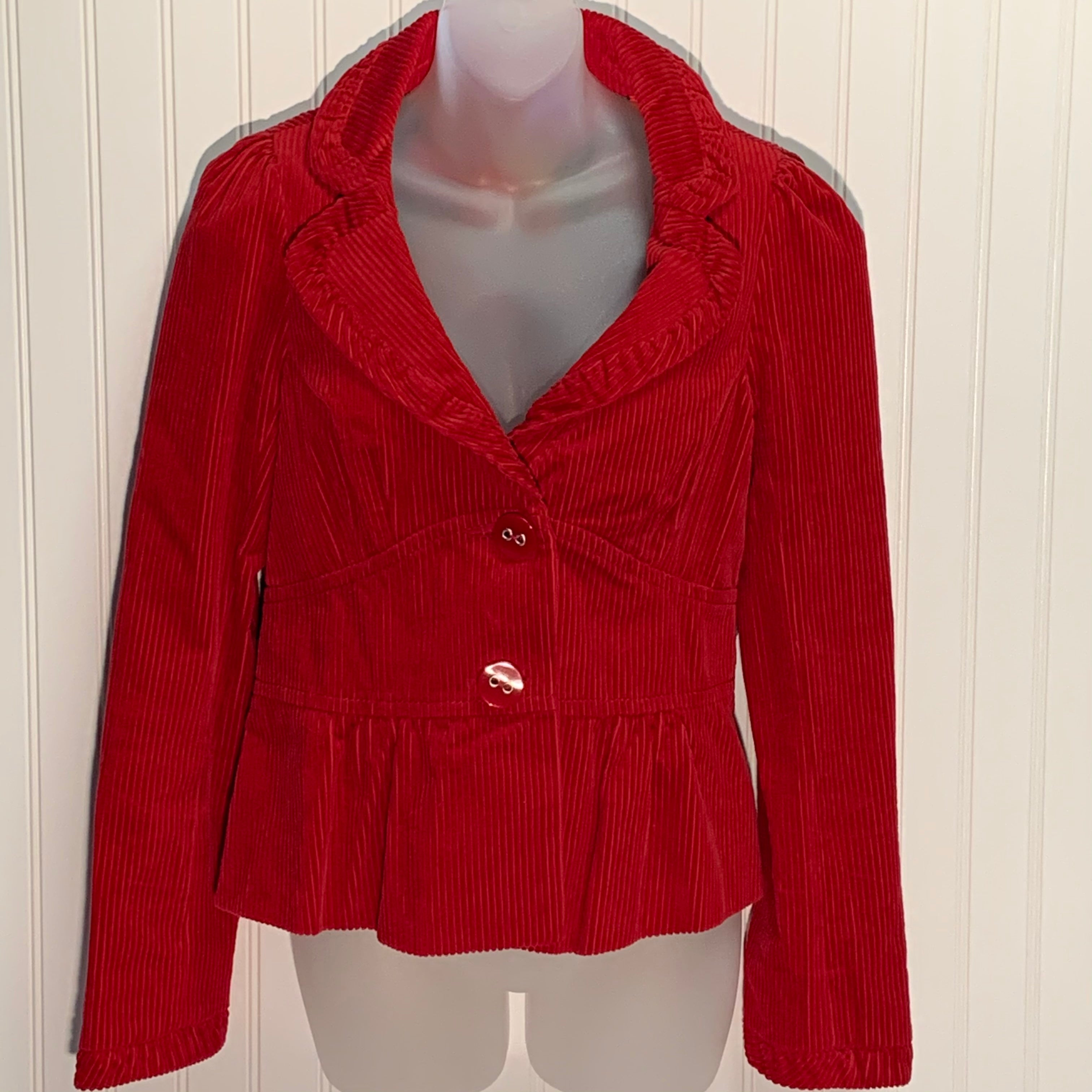 Primary Photo - BRAND: ELEVENSES <BR>STYLE: BLAZER JACKET <BR>COLOR: RED <BR>SIZE: 8 <BR>OTHER INFO: ANTHROPOLOGIE <BR>SKU: 239-23911-70969