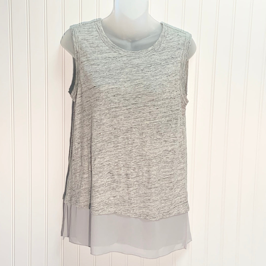 Primary Photo - BRAND: BANANA REPUBLIC <BR>STYLE: TOP SLEEVELESS <BR>COLOR: GREY <BR>SIZE: XS <BR>SKU: 239-23911-72030