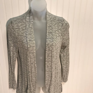 Primary Photo - BRAND: AB STUDIO STYLE: SWEATER CARDIGAN LIGHTWEIGHT COLOR: GREY WHITE SIZE: L OTHER INFO: NEW! RAYON POLYESTER COTTON SPANDEX SKU: 239-23911-72334