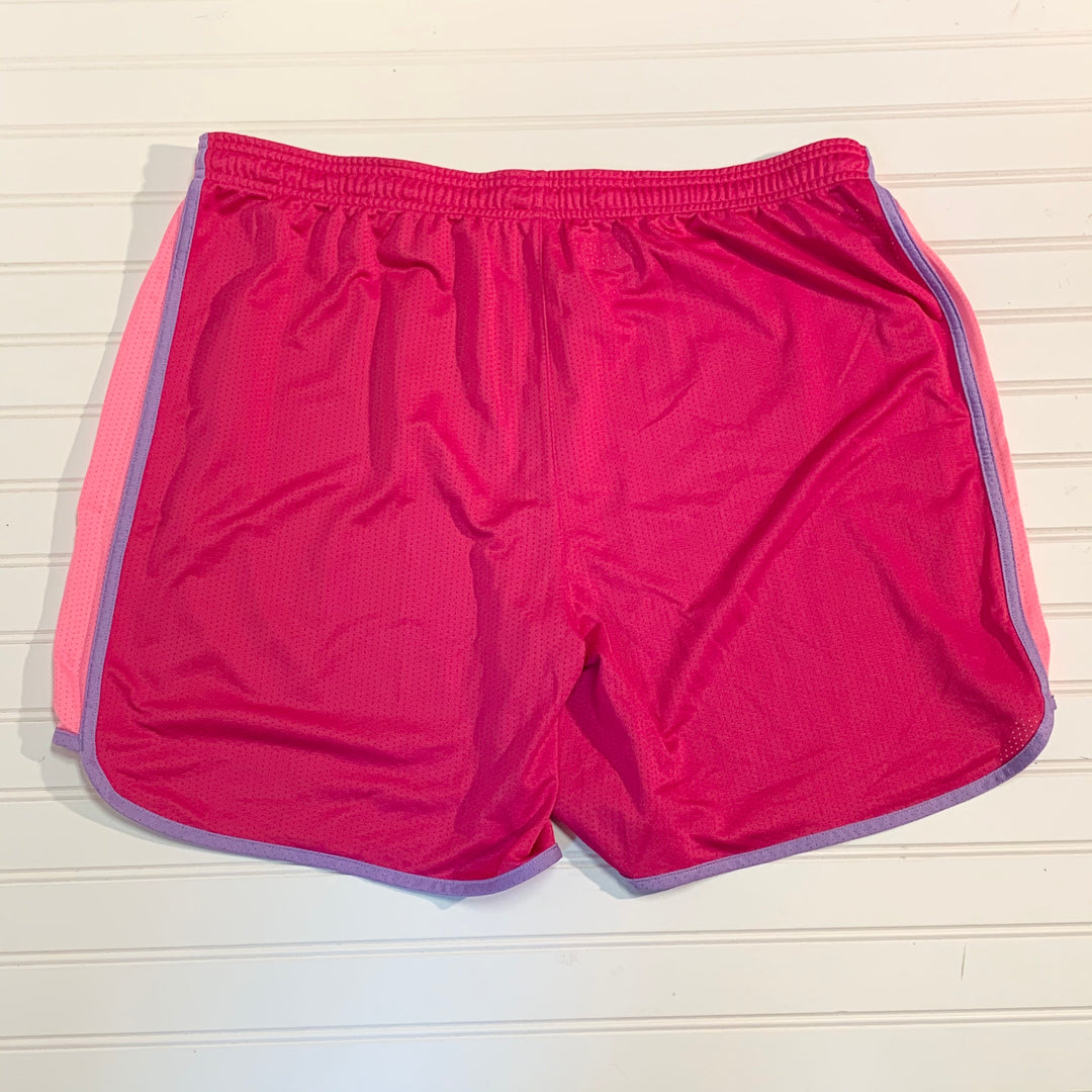 Photo #1 - BRAND: UNDER ARMOUR <BR>STYLE: ATHLETIC SHORTS <BR>COLOR: PINK <BR>SIZE: XL <BR>SKU: 239-23918-36963