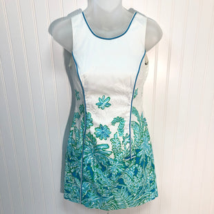 Primary Photo - BRAND: LILLY PULITZER STYLE: DRESS SHORT SLEEVELESS COLOR: WHITE BLUE SIZE: 0 OTHER INFO: SIZE DOUBLE 00 SKU: 239-23911-68498