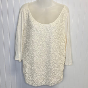 Primary Photo - BRAND: LUCKY BRAND STYLE: TOP LONG SLEEVE COLOR: CREAM SIZE: 1X SKU: 239-23918-37929
